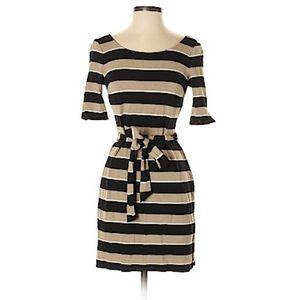 🍁3/$22•Banana Republic | Tan&Black Striped Dress